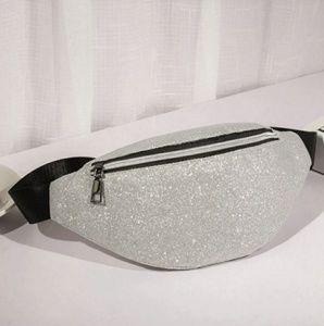 silver glitter bum bag